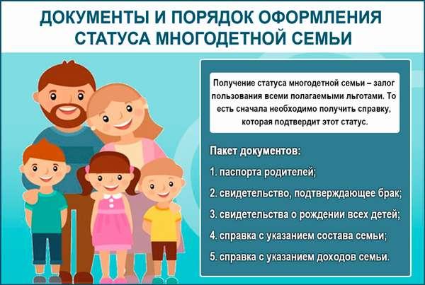 Что нужно для получения документа, подтверждающего многодетность семьи