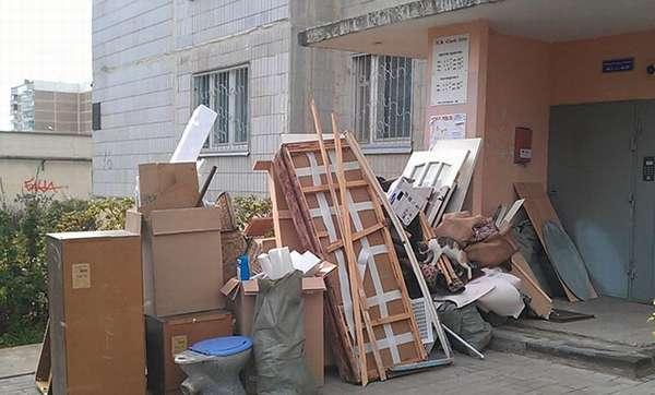 Вывоз крупногабаритного мусора из квартиры