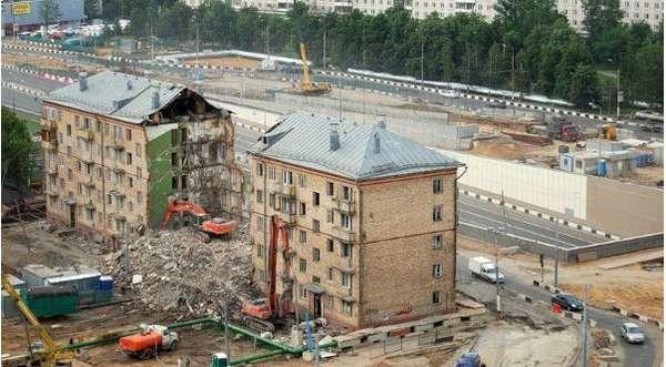снос домов по реновации в ВАО