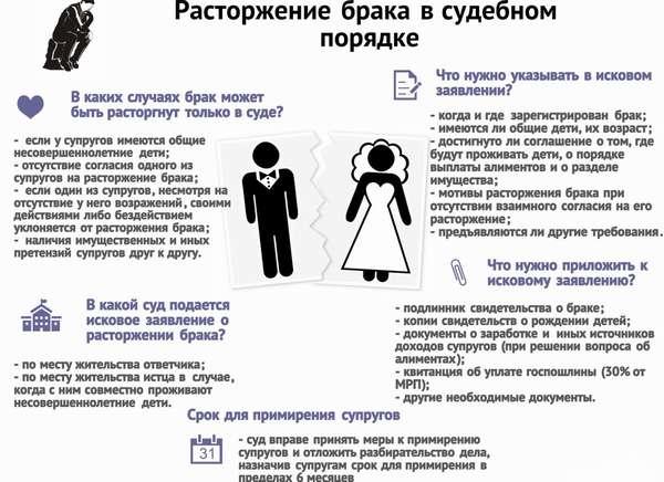 порядок развода при отсутствии детей
