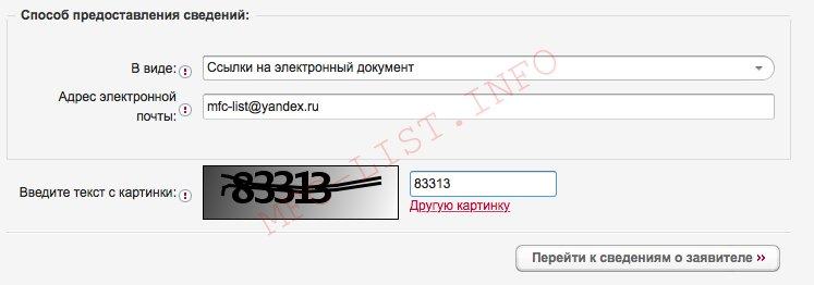Получение Выписки из ЕГРН онлайн (Шаг 3. Указываем тип выписки и адрес доставки)