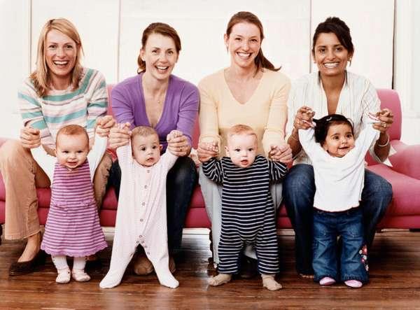 детишки с мамочками