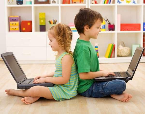 дети за ноутбуками