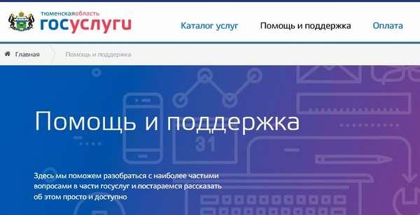 сайт «Госуслуги» в Тюмени